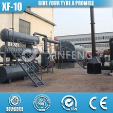 XF-10 2014 With CE ISO9001Newest Design waste plastic pyrolysis plant
