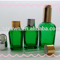 colorful glasse smoking oil bottle e juice/e liquid 30ml square glass dropper bottle with childproof cap
