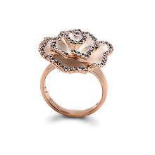 Wholesale Female Flower Shape Diamond Gold Ring
