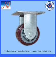 Economic latest industrial fixed rubber caster wheel