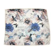 New Beautiful Butterfly Flower Bird Printed Scarf Fashion Lady Dress Muffler Polyester Scarf