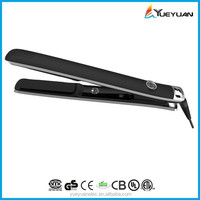 2015 new LED logo display jet black fat iron hair straightener rotation iron hair straightener korean hair flat iron