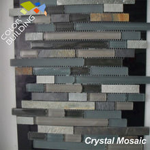 Stone And Crystal Mosaic Liner Piece Mosaic Matt And Glossy Glass