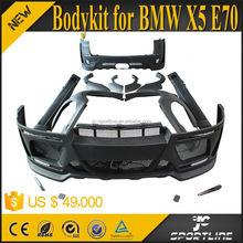 Black FRP xDrive Series X5 Wide Body Kits For BMW X5 E70 LCI 07-11 HM Style