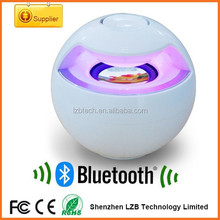 Ball shape bluetooth wireless speaker with colorful LED light flashing