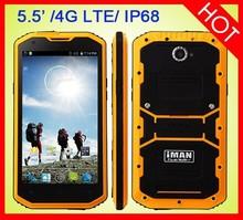 Hotsale iMAN i8800 Ultra Slim 4G LTE Rugged Smartphone MSM8916 Quad Core 1GB RAM/8GB ROM 5.5 Inch IPS Screen IP68 phone