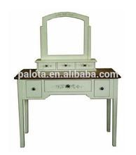 De madera dressor, mueblesdeldormitorio tocador con espejo, de la cómoda maquillaje clásico mesa de tocador con espejo
