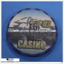 Casino del personalizar completo ficha de póker de cerámica ficha de póker