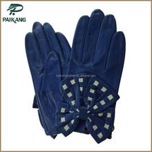Wholesale fashion ladies dress leather gloves