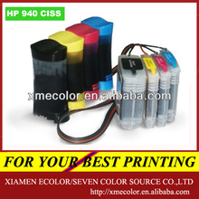 Xiamen Ecolor 940 ciss for hp 8000 8500 with permanent auto ARC chip show ink level