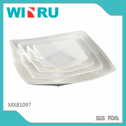 "5.5""~10.5"" white square plate porcelain dessert plate for hotel ceramic plate , salad plate ,dinner plate"