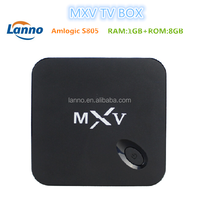 Amlogic S805 quad core smart stream tv box MXV you can watch free movies ,free sport and local news