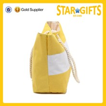 High quality popular promotional beach bags wholesale beach bag with rope handles