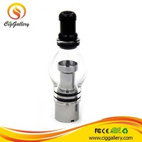 2015 Ciggallery portable dry herb vaporizer drip tips 510 vaporizer wax atomizer glass bulb atomizer