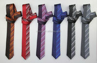 Contemporary hot sell rib ground skinny tie necktie silk