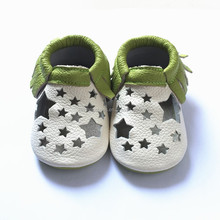 baby sandal with green fringe wholesale baby shoes