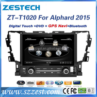 ZESTECH touch screen stereos player multimedia navigator car stereo for Toyota Alphard 2015 car stereo