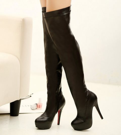 Brand New 2014 Over The Knee High Boots Red Bottom Shoes For Women