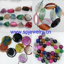 Agate Mix Color Beads, round 8-14mm, 16-inch strand