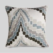 Simple silver geometric printed cushion cover decorate vintage pillow case