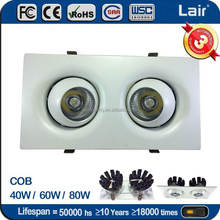 360 degree rotate double downlight led spot light 60w