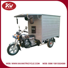 Africa market powerful air-cooled 150cc/200cc closed cargo carriage Chinese adult motorcycles/tricycle sale