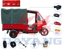 2015 hot sale 4 strocke crazy selling tricycle with canvas and pole for sale