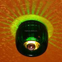green round glass mounted celing wall lighting, corridor lighting, aisle lighting