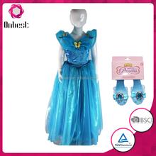 En stock! cenicienta vestidos para las niñas cenicienta traje niño vestido de cenicienta