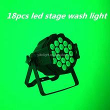 2015 hot selling item 18 pcs rgbwa(uv) 5 in 1(or 6 in 1) mini flat led light