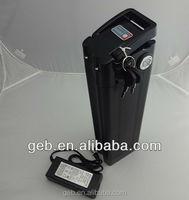 lifepo4 36v 15ah e-bike battery in black colour silver fish style