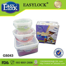 small Christmas food plastic container with lock made in China
