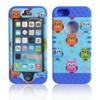Cute Owls Hard Plastic Cover Soft Silicone Skin 3 in 1 Hybrid Case for Apple iPhone 4/5/6/6 Plus