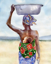 High Quality African Women Painting Impression Africa Woman Oil Painting On Canvas With No Frame For Friend Unique Gift