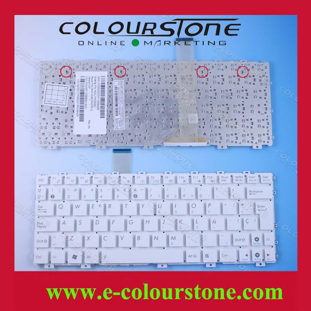 Nueva llegada teclado teclado del ordenador portátil para asus eee pc 1015 1015 p 1015pe series blanco español sp version