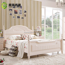 Latest Design Guangdong Manufacturer Super King Size Wooden Bed