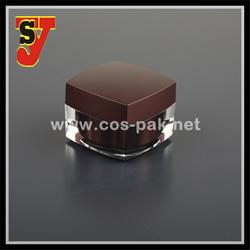 Square High Quality Acrylic Cream Jar