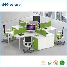 Latest design E0 grade MFC 30mm thickness partition alluminum alloy frame office furniture call center workstation desk