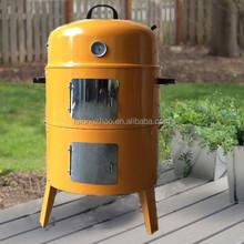 "17"" Orange enamel bbq smoker Smoking Grill Barbecue grill smoker"