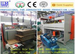 Automatic corrugated carton box stiching machine/box sticher machine CE & ISO9001