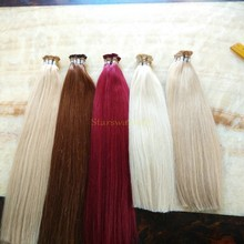 Most popular in UK virgin remy hair i tip hair extensions wholesale mini tip hair extension with memory glue