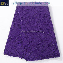 Purple Latest Wholesale African French Lace/Nigeria Cord Lace 2015