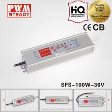 100W CE CB Approved 200mVp-p SFS-100-36 ac dc waterproof switching power supply