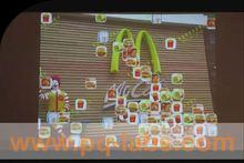 interactive floor standing ad player for indoor and outdoor
