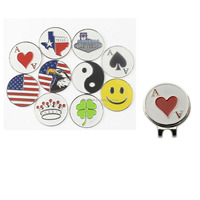 Factory directly selling golf hat clips with 10 pcs different style ball markers