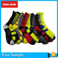 new fashion design mens length fancy compression cotton sport socks