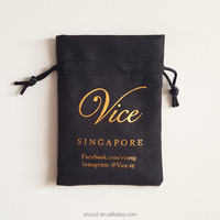 custom suede jewelry drawstring pouch with logo wholesale