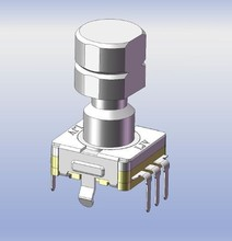 thin type with minimized shaft wobble type and good feeling rotary encoder
