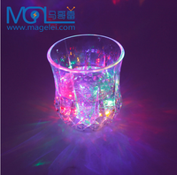 fashion design transparent led reflector drinnking cup for gift