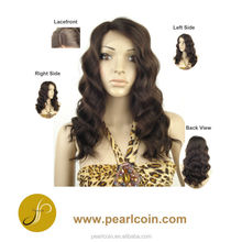 Customized Unique 100% Virgin Hair Body Wave Single Drawn Front Lace Wig